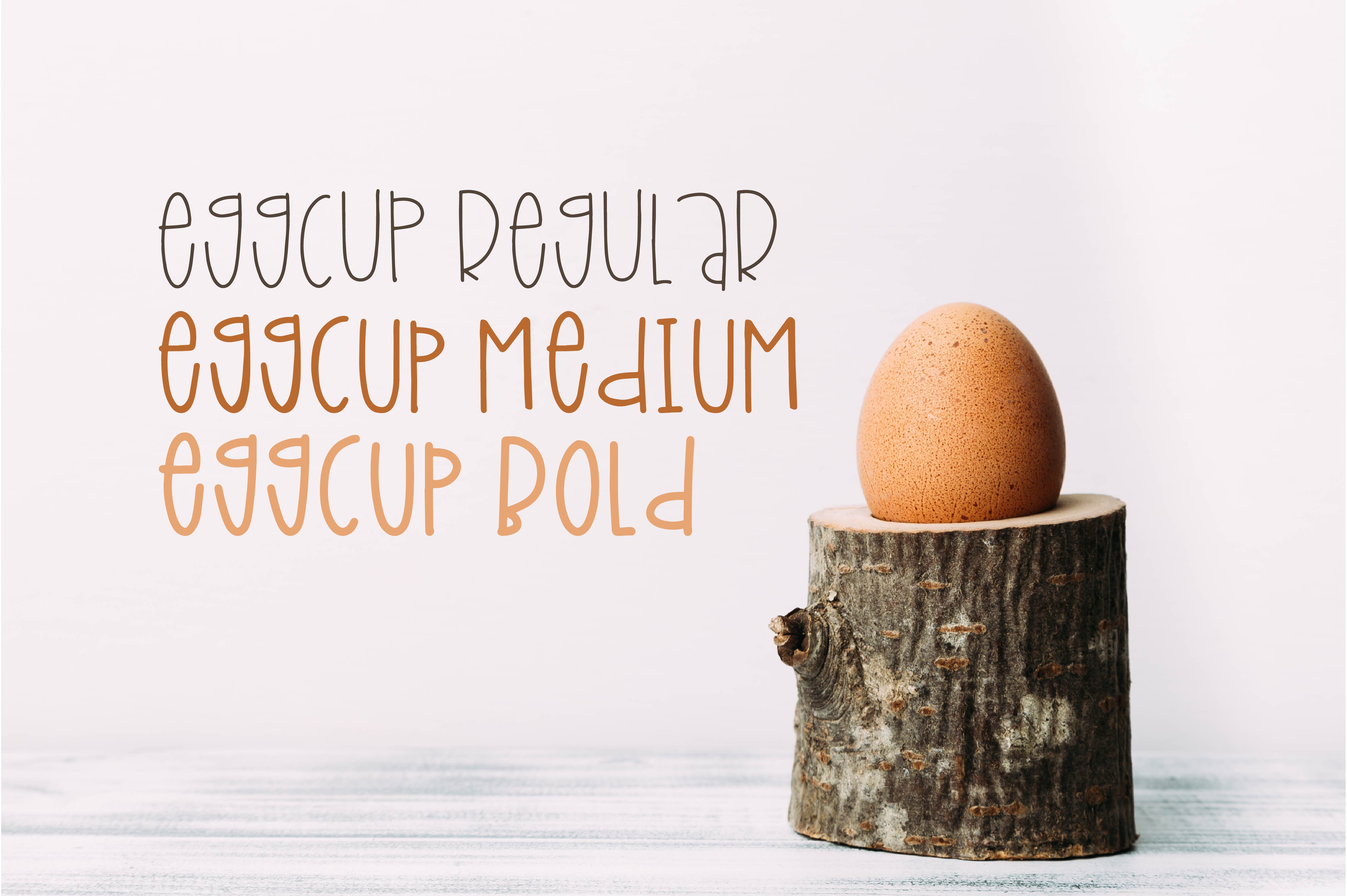Eggcup - A Mixed Case Font with Three Weights example image 2