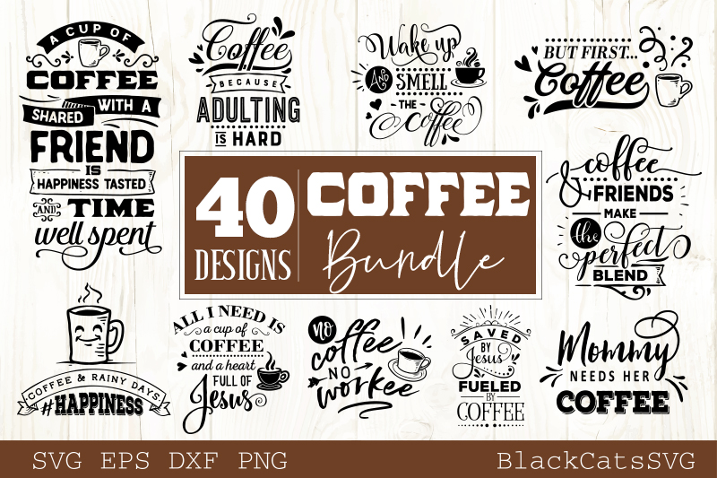 Coffee SVG bundle 40 designs Coffee SVG bundle example image 3