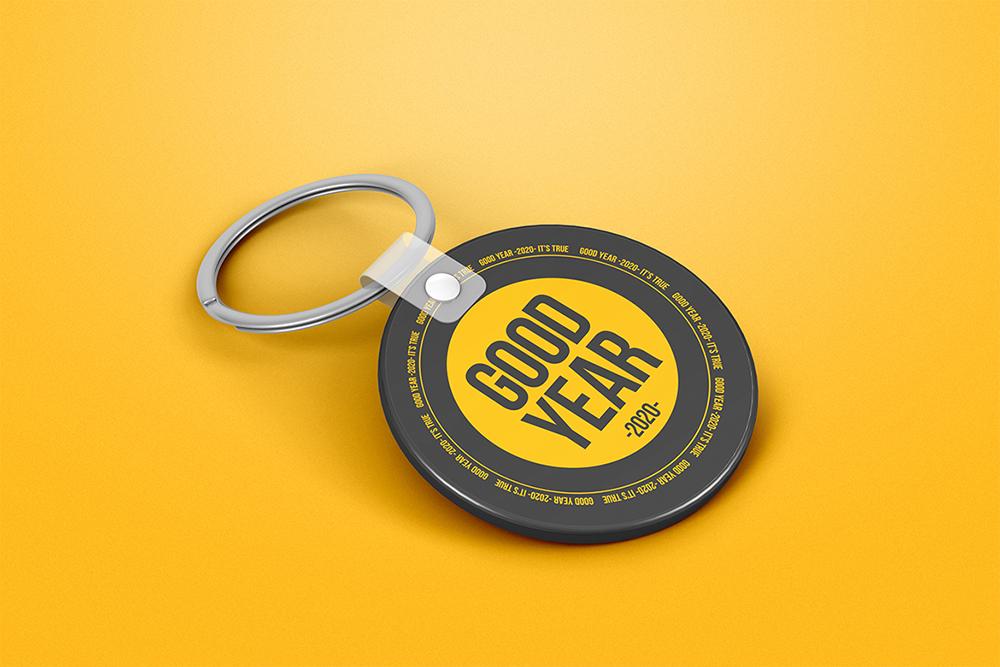 Circle Keychain Mockup example image 4