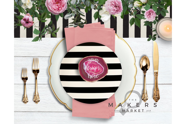 Wedding Mockup/ Place Card Mockup/ Stock Photo/ Wedding Name example image 1