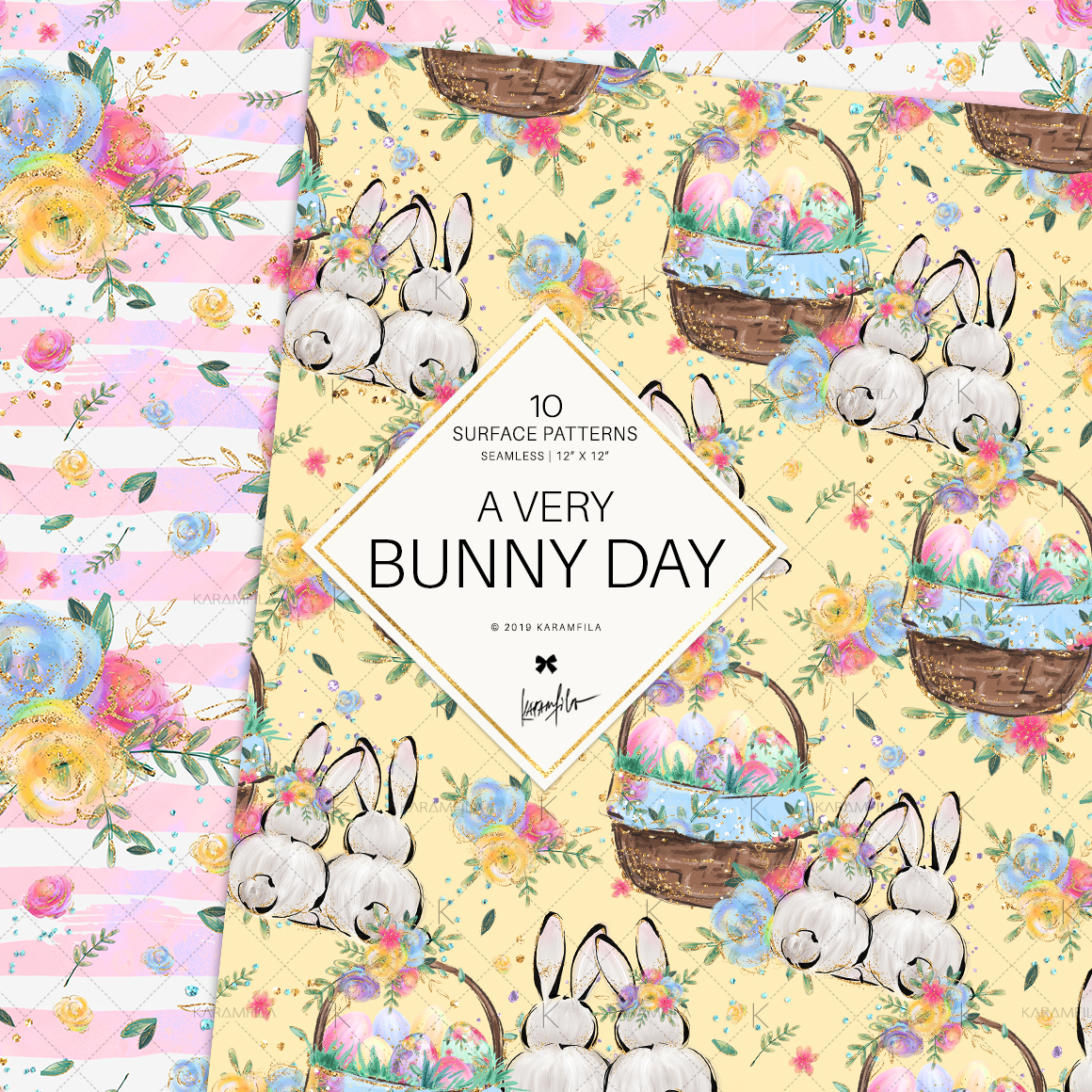 Easter Eggs Bunny Fairy Patterns example image 6