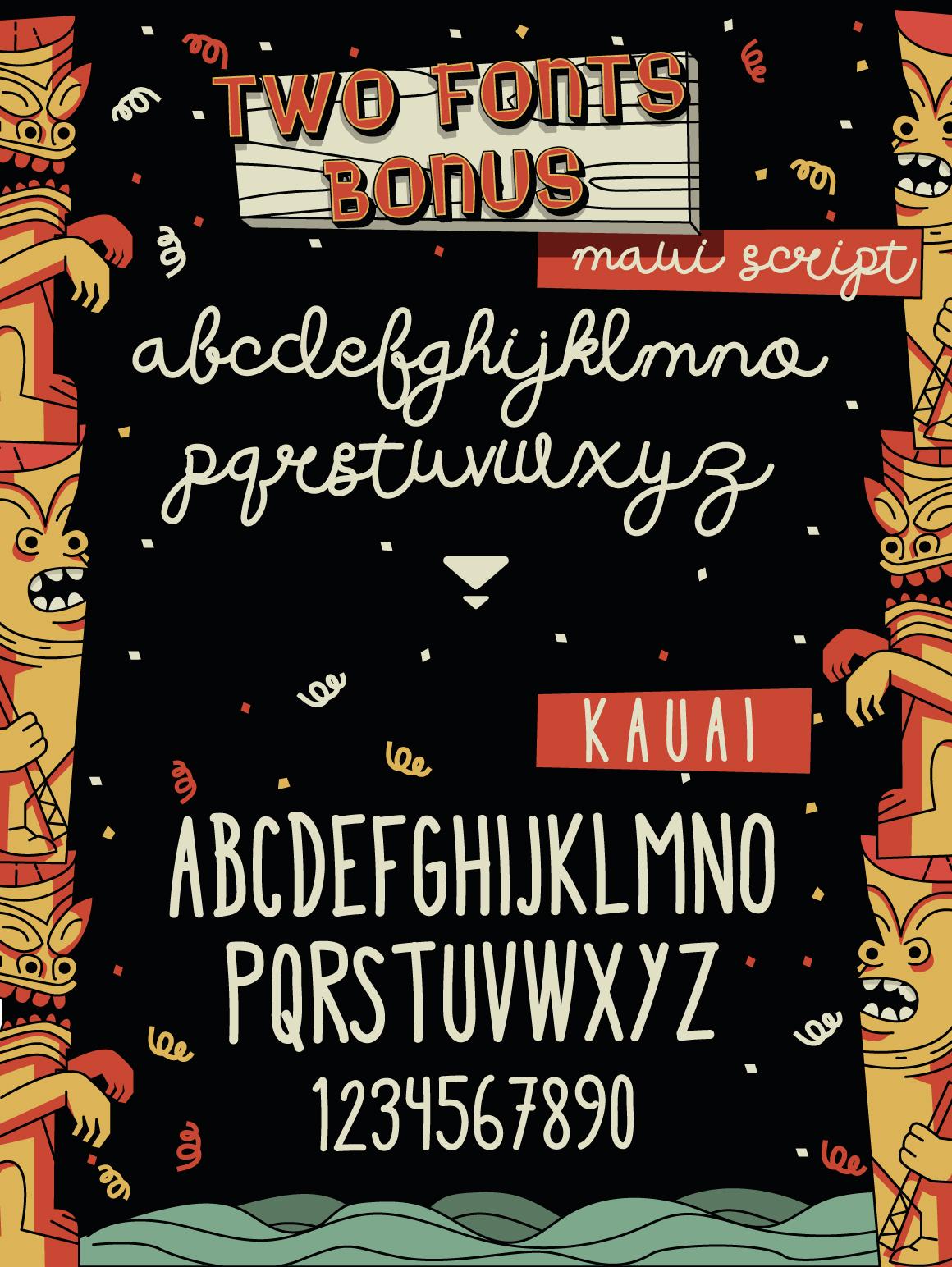 Wakiki Layered Typeface + Bonus example image 3