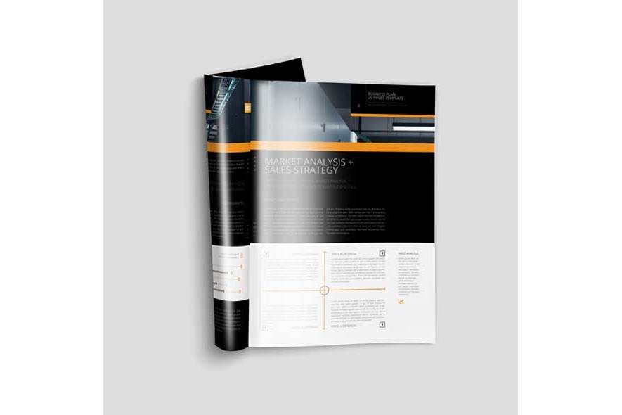 Business Plan Template 20P A4 example image 4