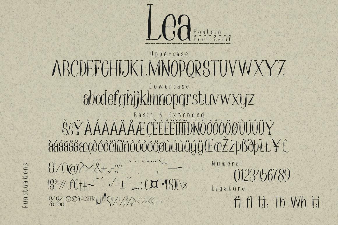 Lea Serif example image 2