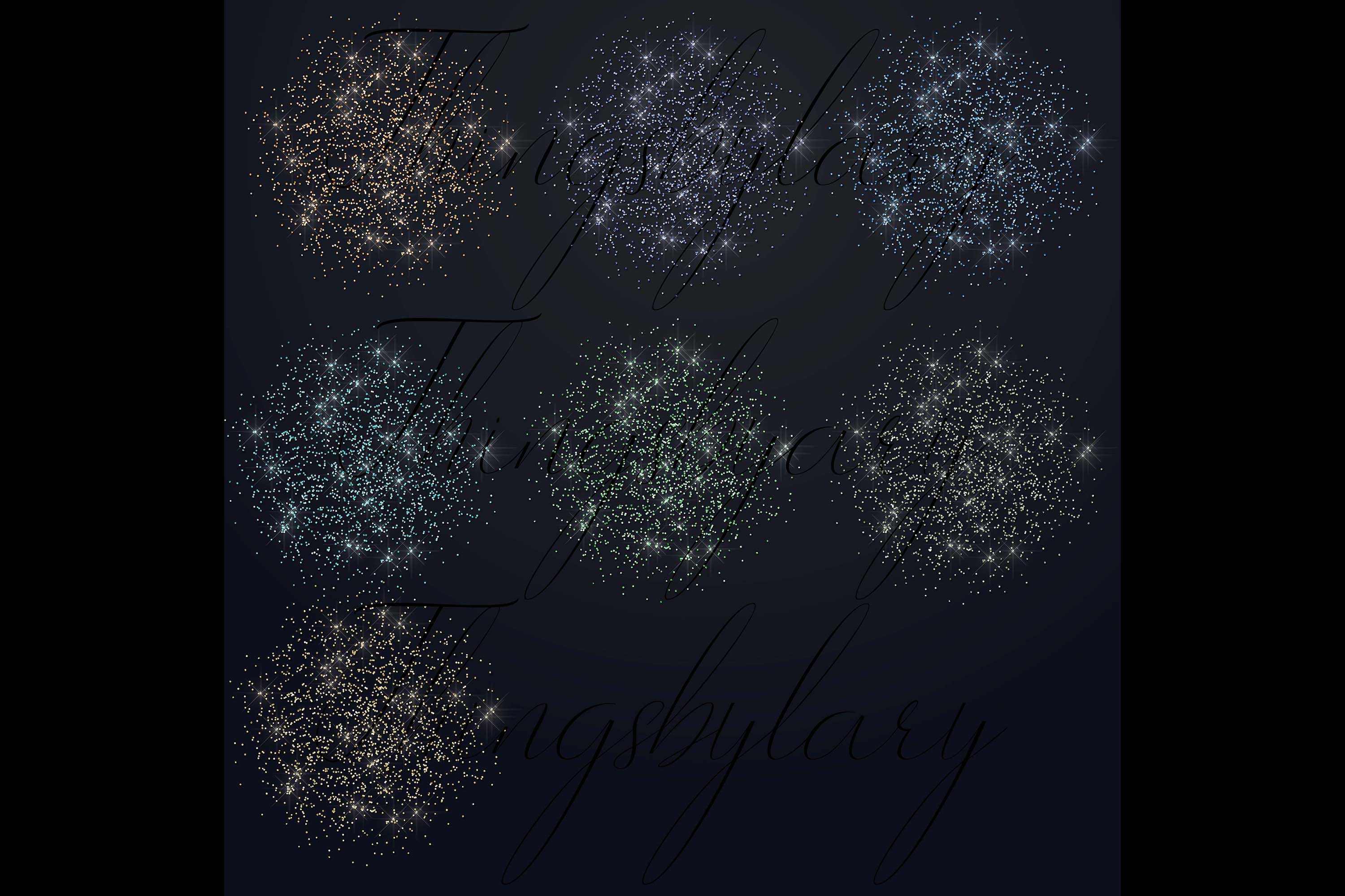 32 Glitter Particles Overlay Images Glitter Dust Confetti example image 7