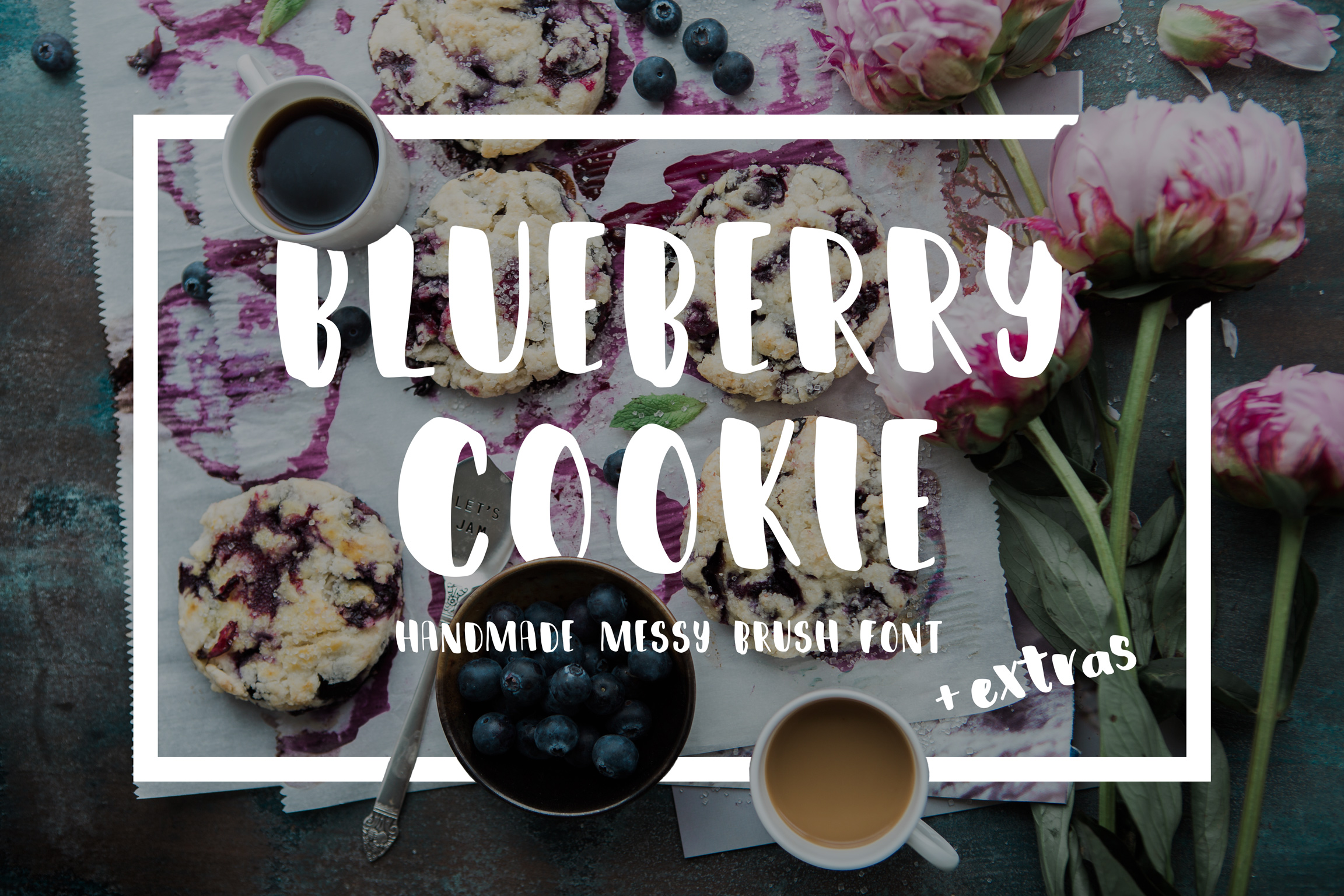 Blueberry Cookie Messy Brush Font example image 1