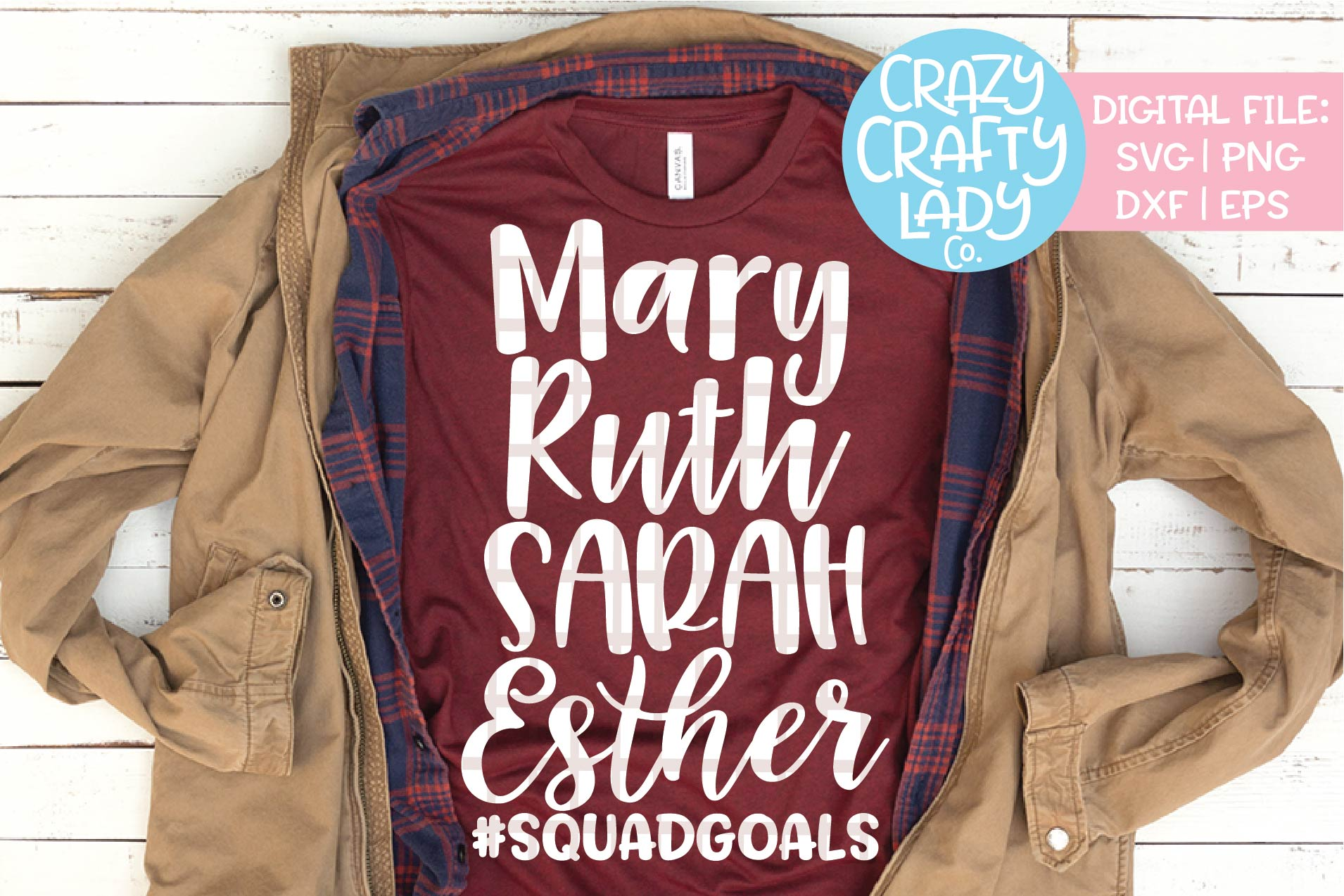 Biblical Women Squad Goals SVG DXF EPS PNG Cut File example image 1