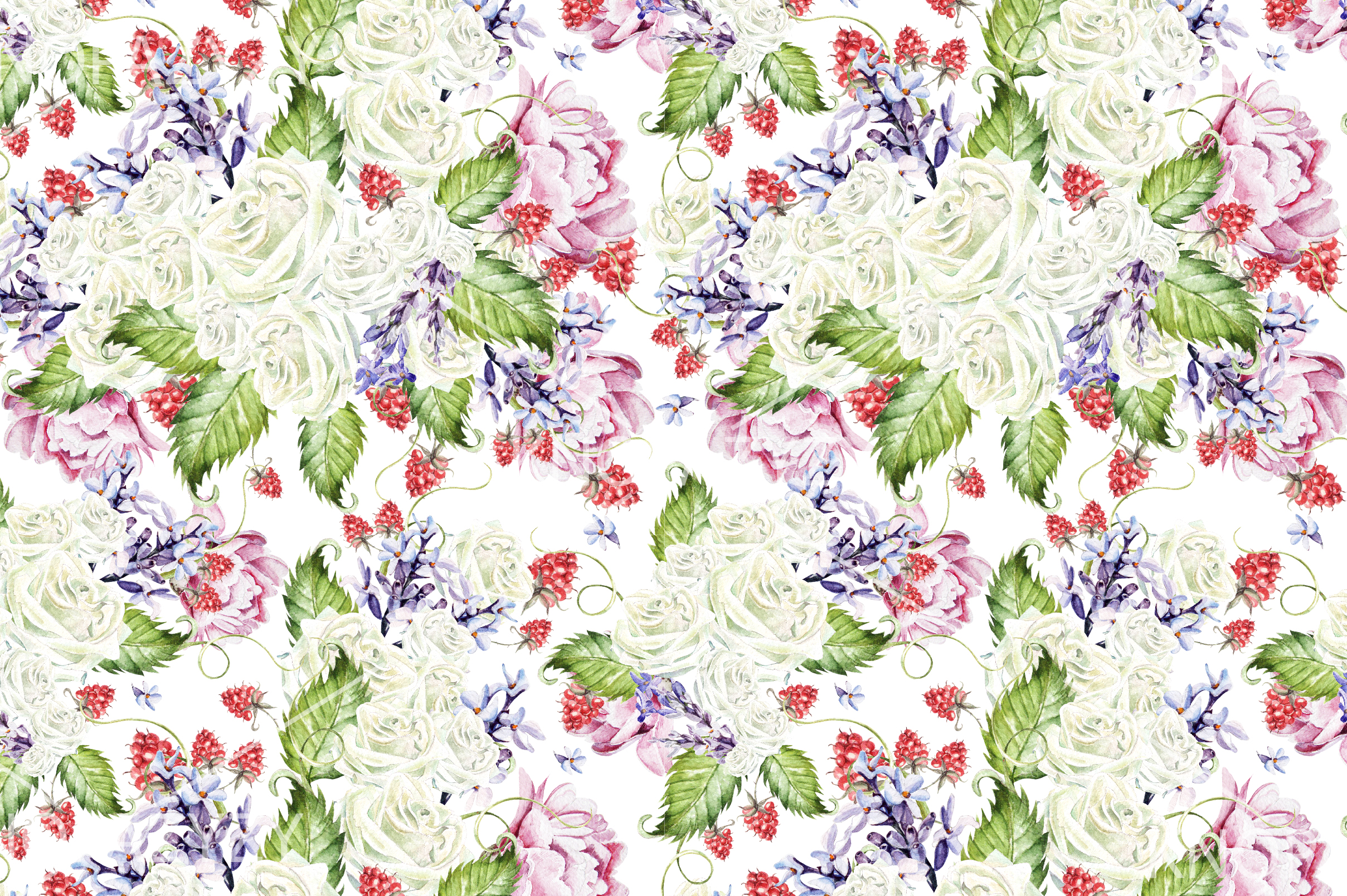 15 Hand Drawn Watercolor PATTERNS example image 5