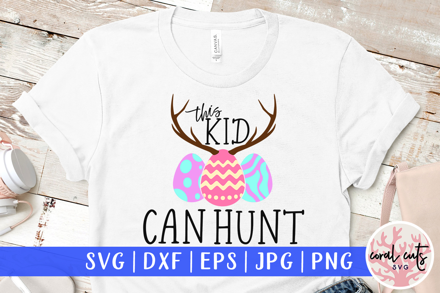 This kid can hunt - Easter SVG EPS DXF PNG Cutting File example image 1