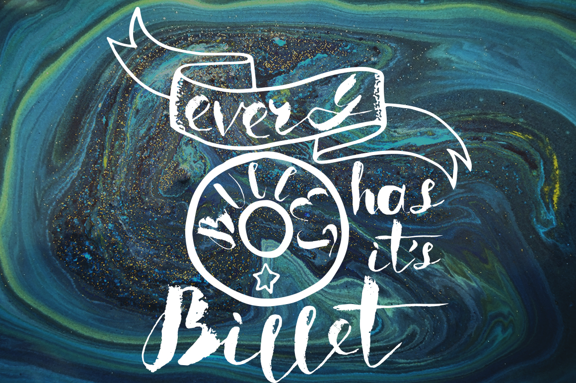 Boriska watercolor grunge font example image 4