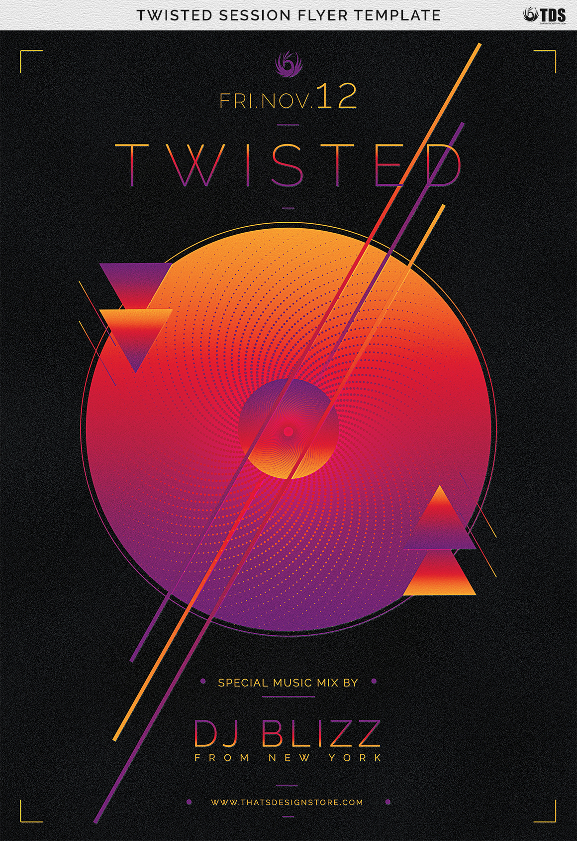 Twisted Session Flyer Template example image 12