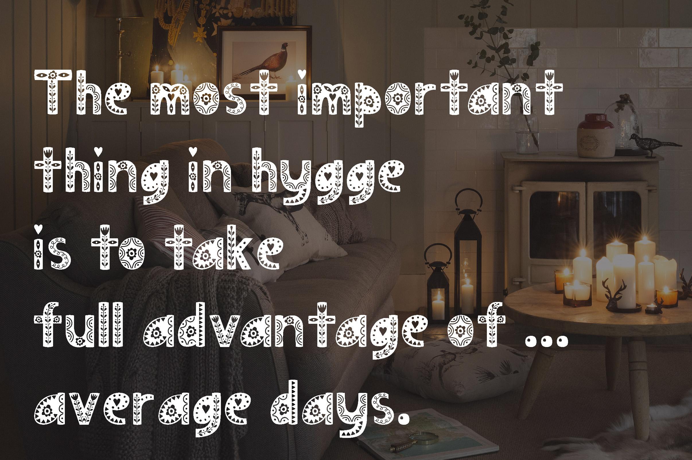 Hygge Scandinavian font example image 13