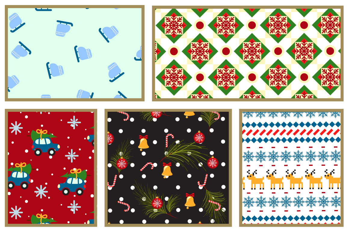Xmas Mood Seamless Patterns example image 2