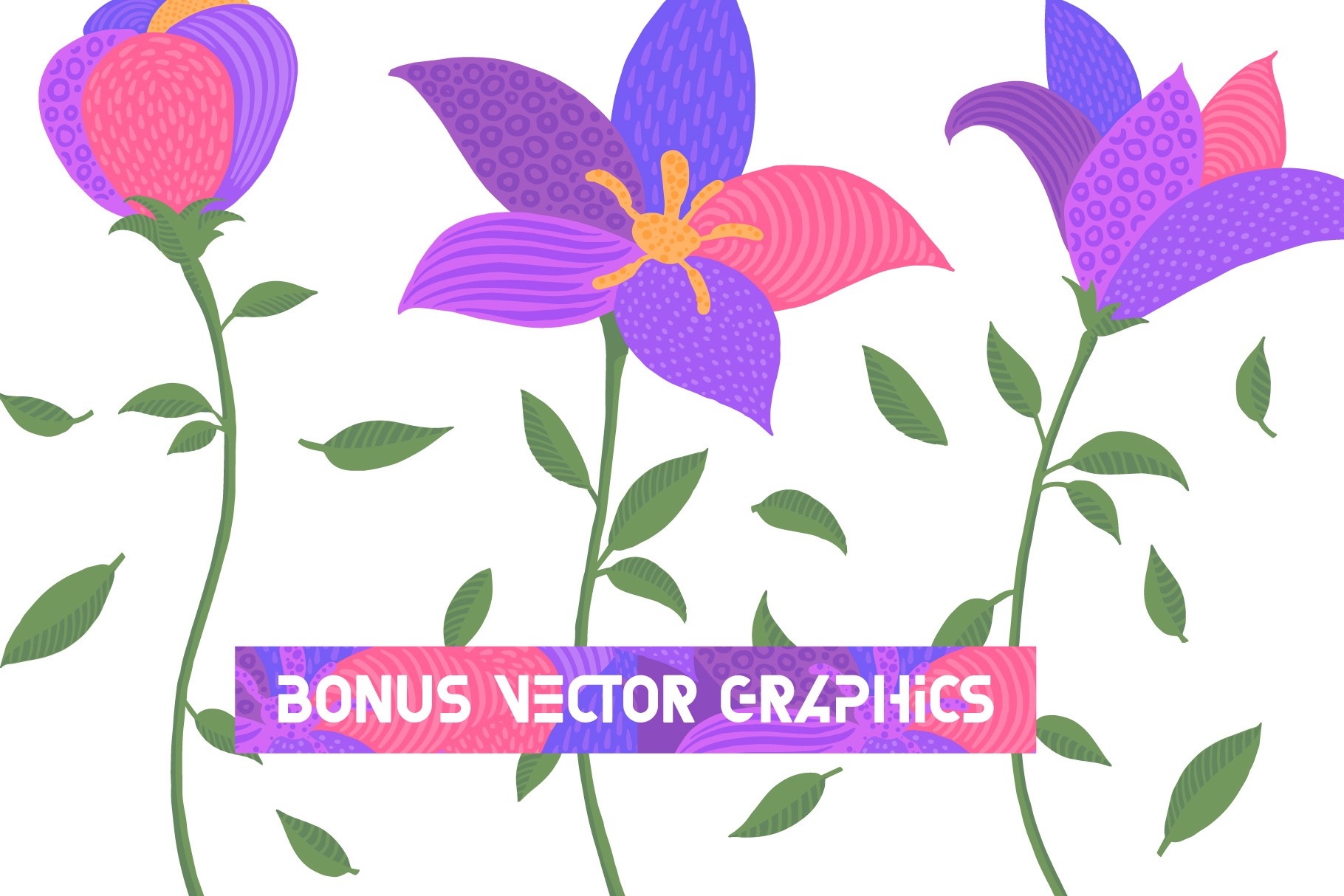 Florry font & illustrations example image 5