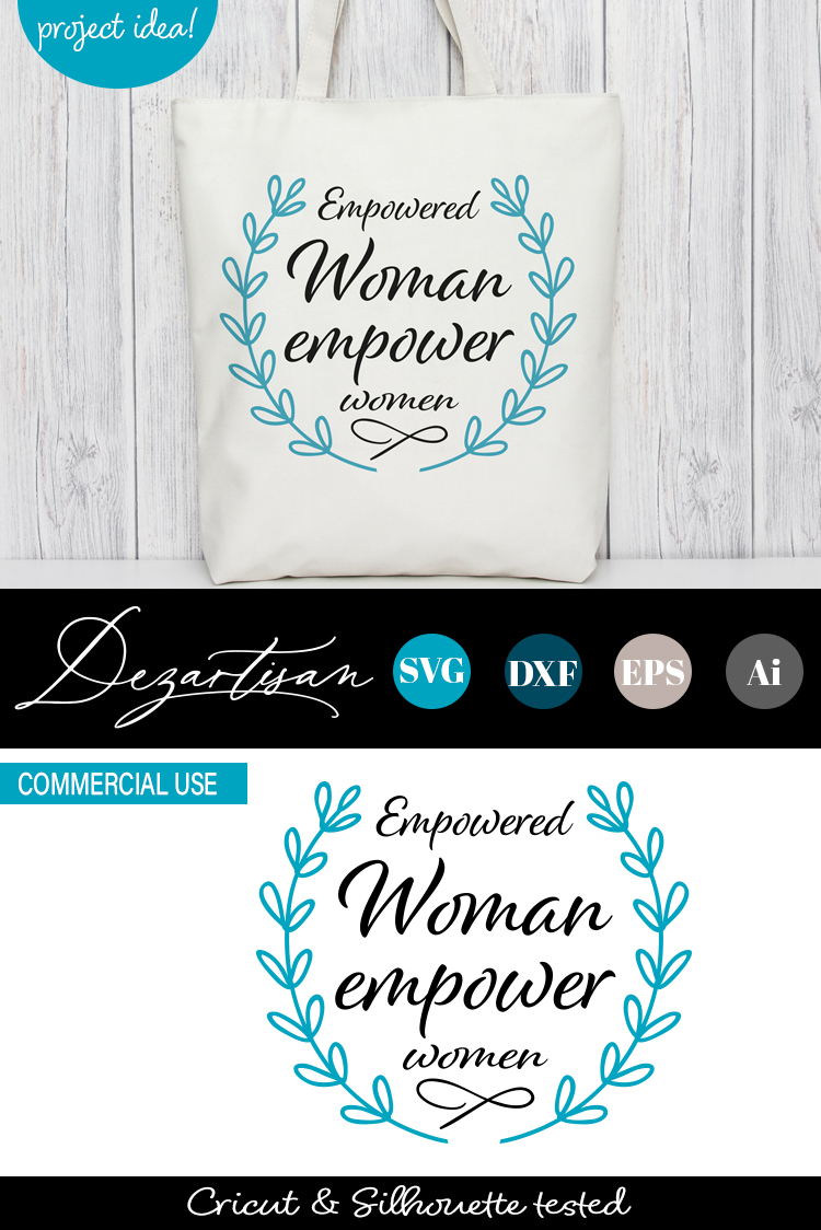 Empowered woman empower women SVG DXF cut file example image 2