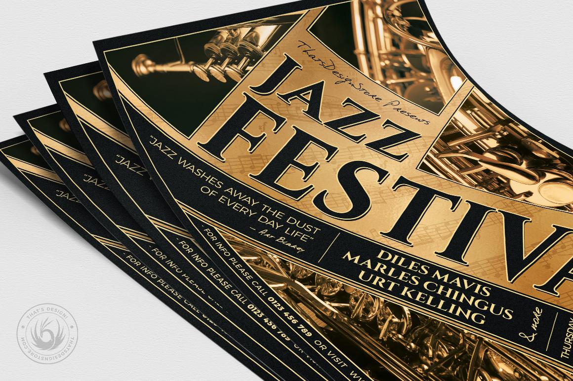 Jazz Festival Flyer Template V1 example image 5