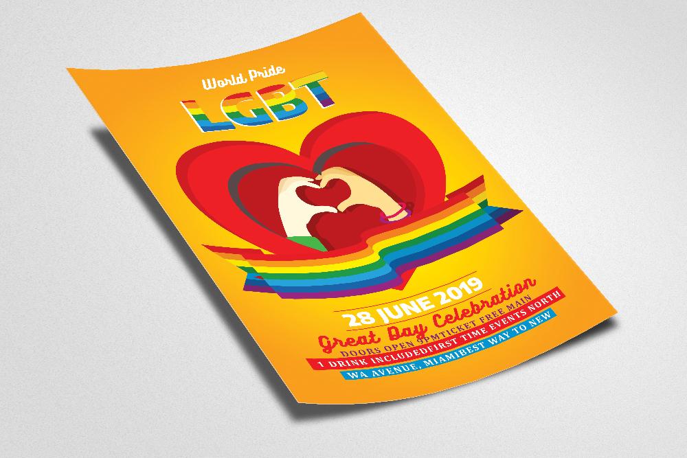 LGBT Pride Celebration Flyer example image 2