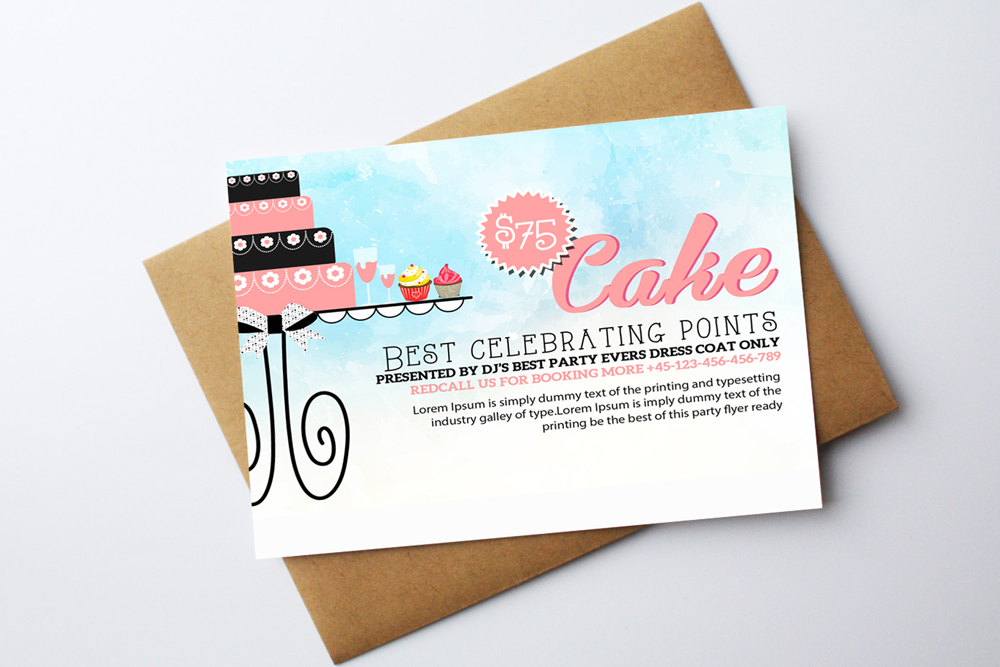 Birthday Invitation Card Template example image 2