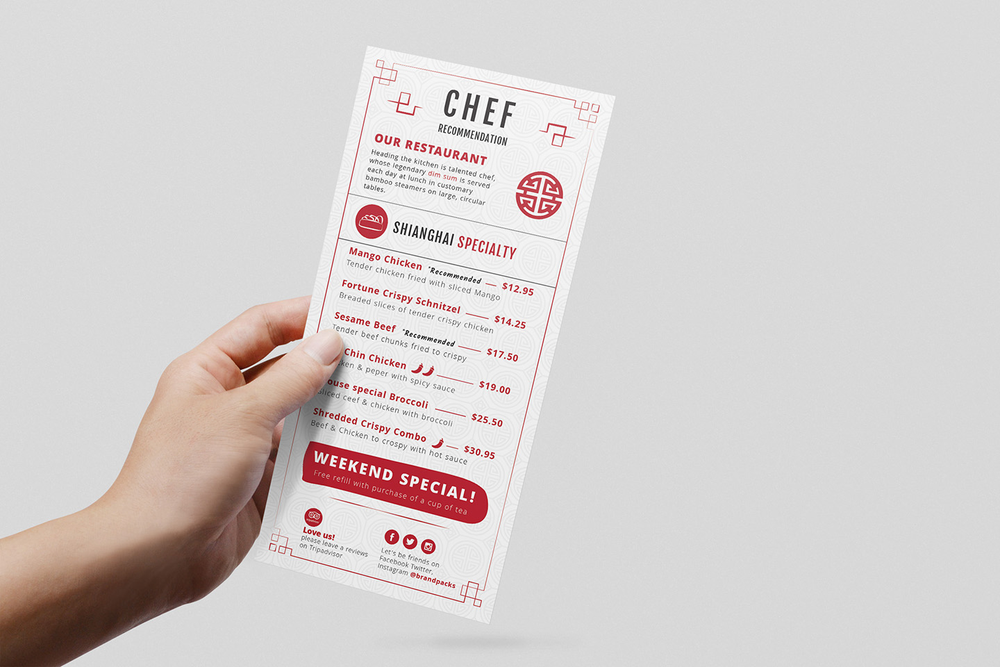 Chinese Menu & Flyer Template example image 4