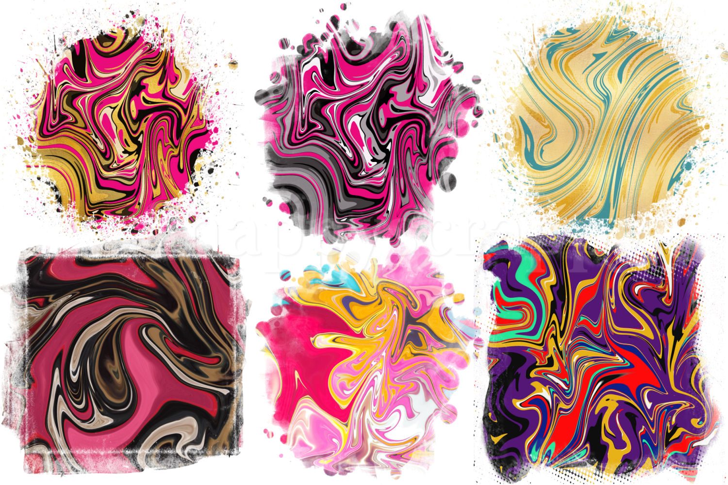 Marble Sublimation Backgrounds example image 1