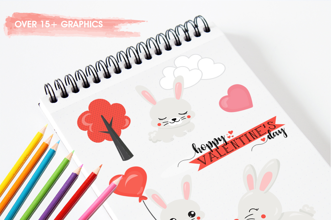 Cute Bunny graphic and illustrations example image 4