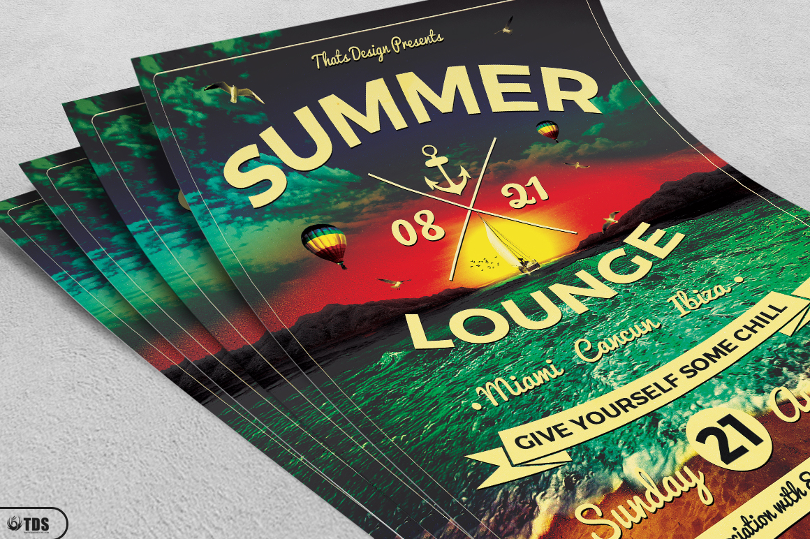 Summer Lounge Flyer Template V3 example image 3