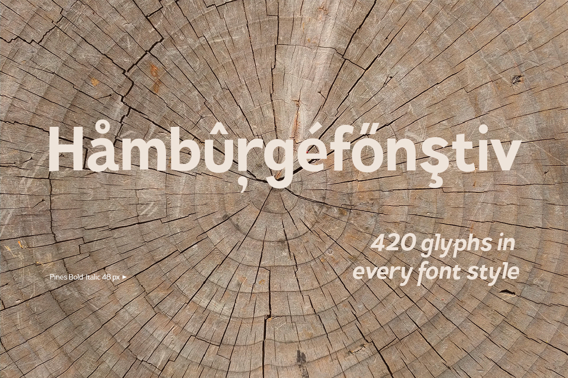 Pines Bold & Pines Bold Italic example image 5