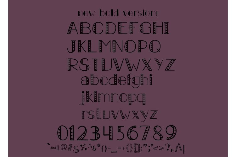 Carousel Lights Font Family, Three Fun Fonts example image 7