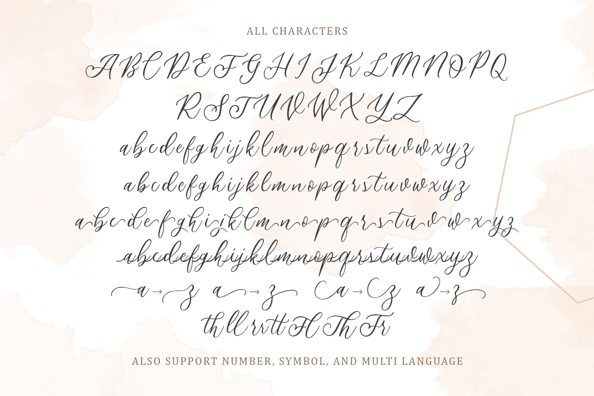 Athalia - Modern Calligraphy Script example image 8