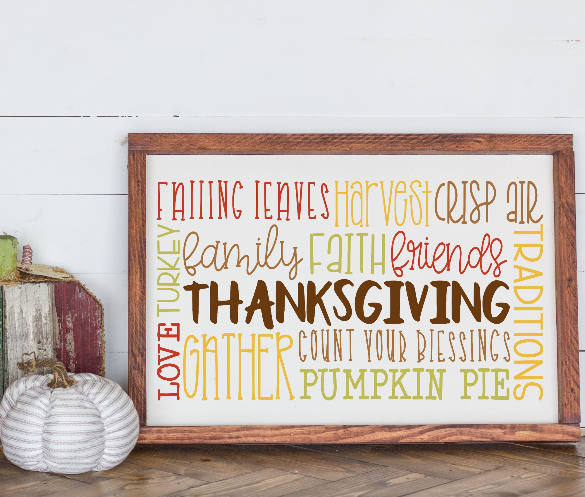 Fall - Autumn - Thanksgiving Subway Art SVG example image 2