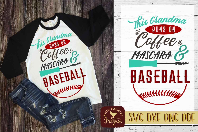 This Grandma Runs On Coffee Mascara & Baseball Sports Shirt example image 1