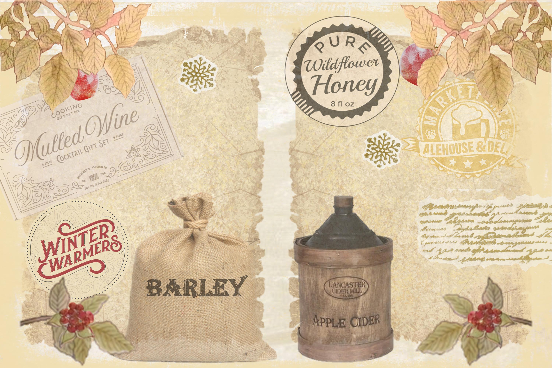 Winter Garden Backgrounds with Free Ephemera. Journaling Kit example image 5