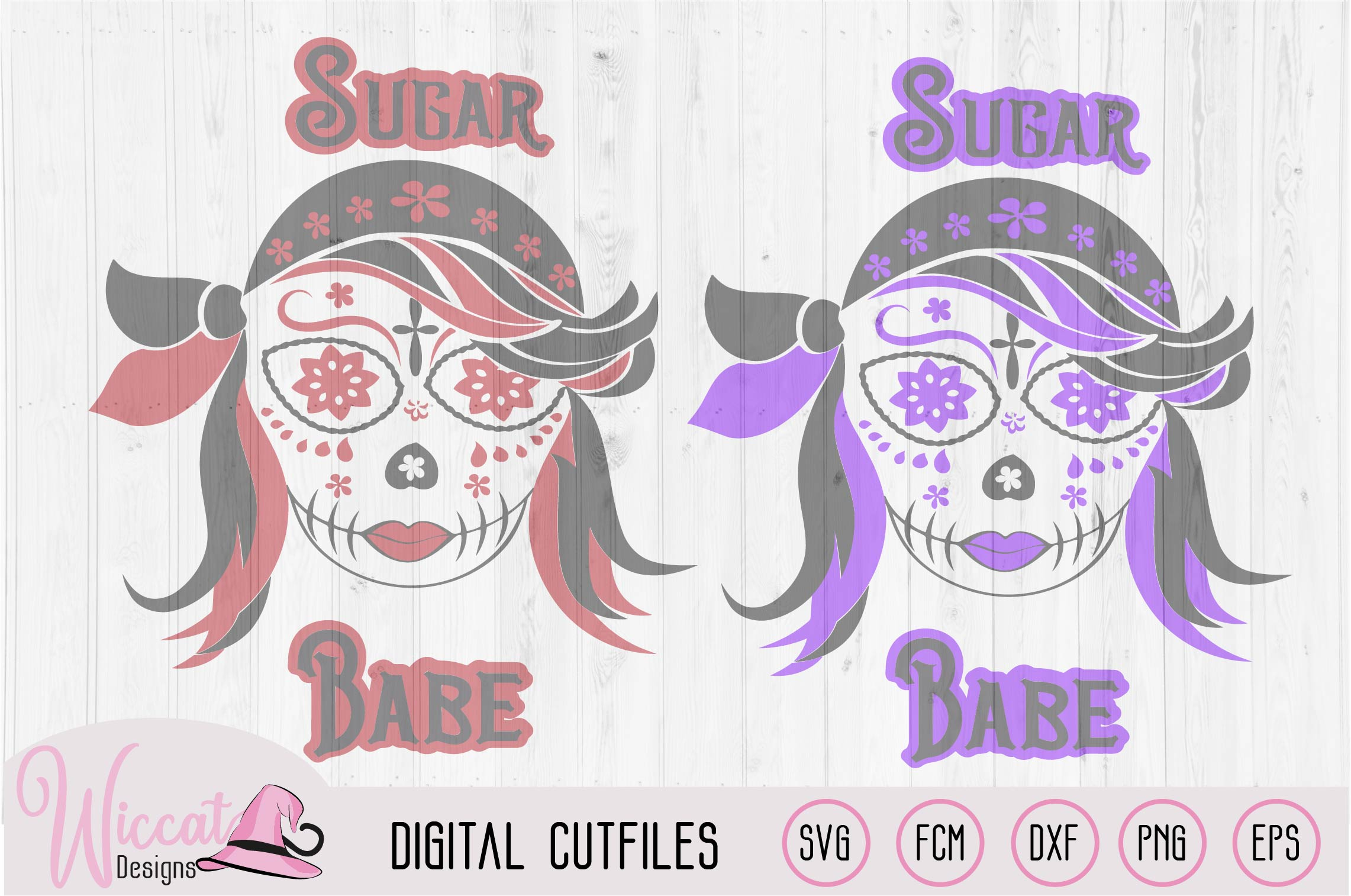 Pirate Sugar Skull svg, Halloween, Day of the dead, example image 2