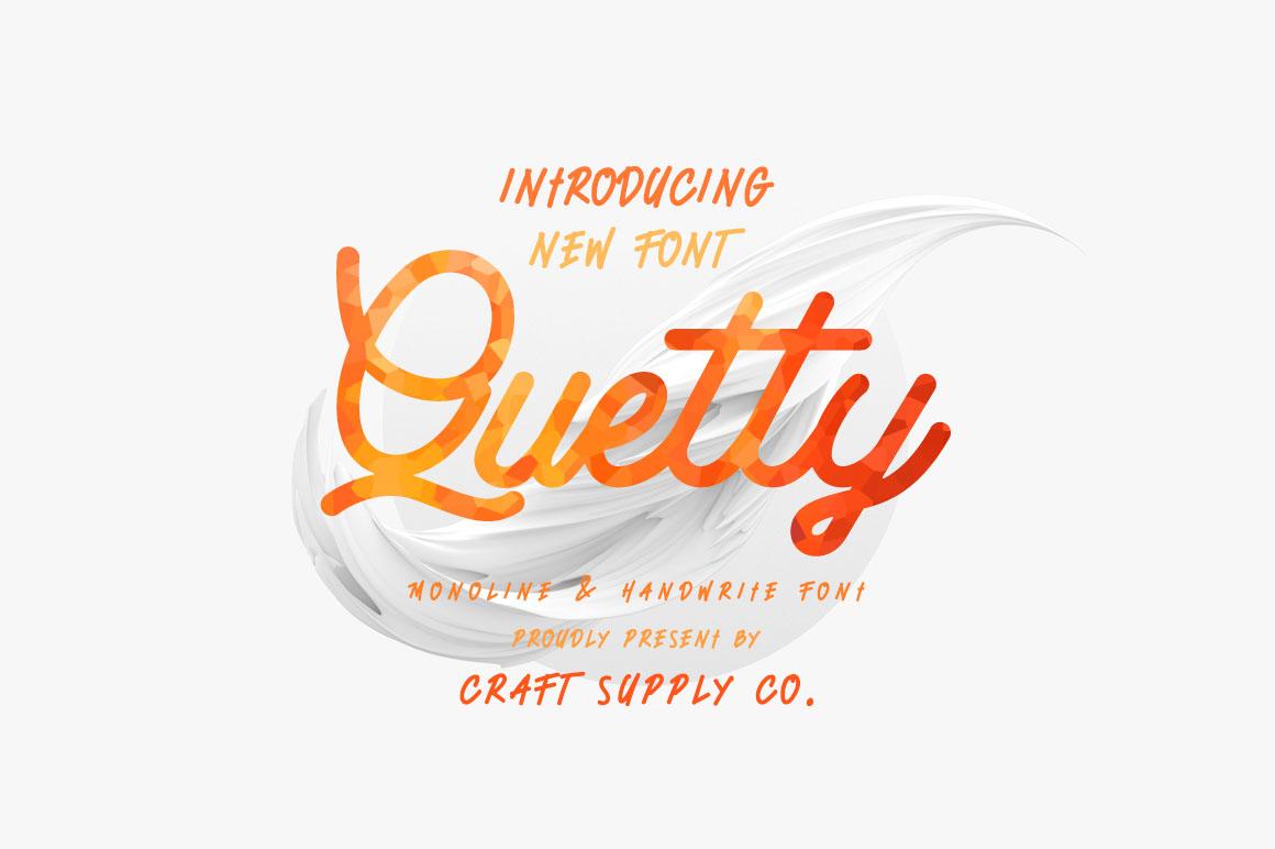 Quetty - Monoline & Handwrite Font example image 7