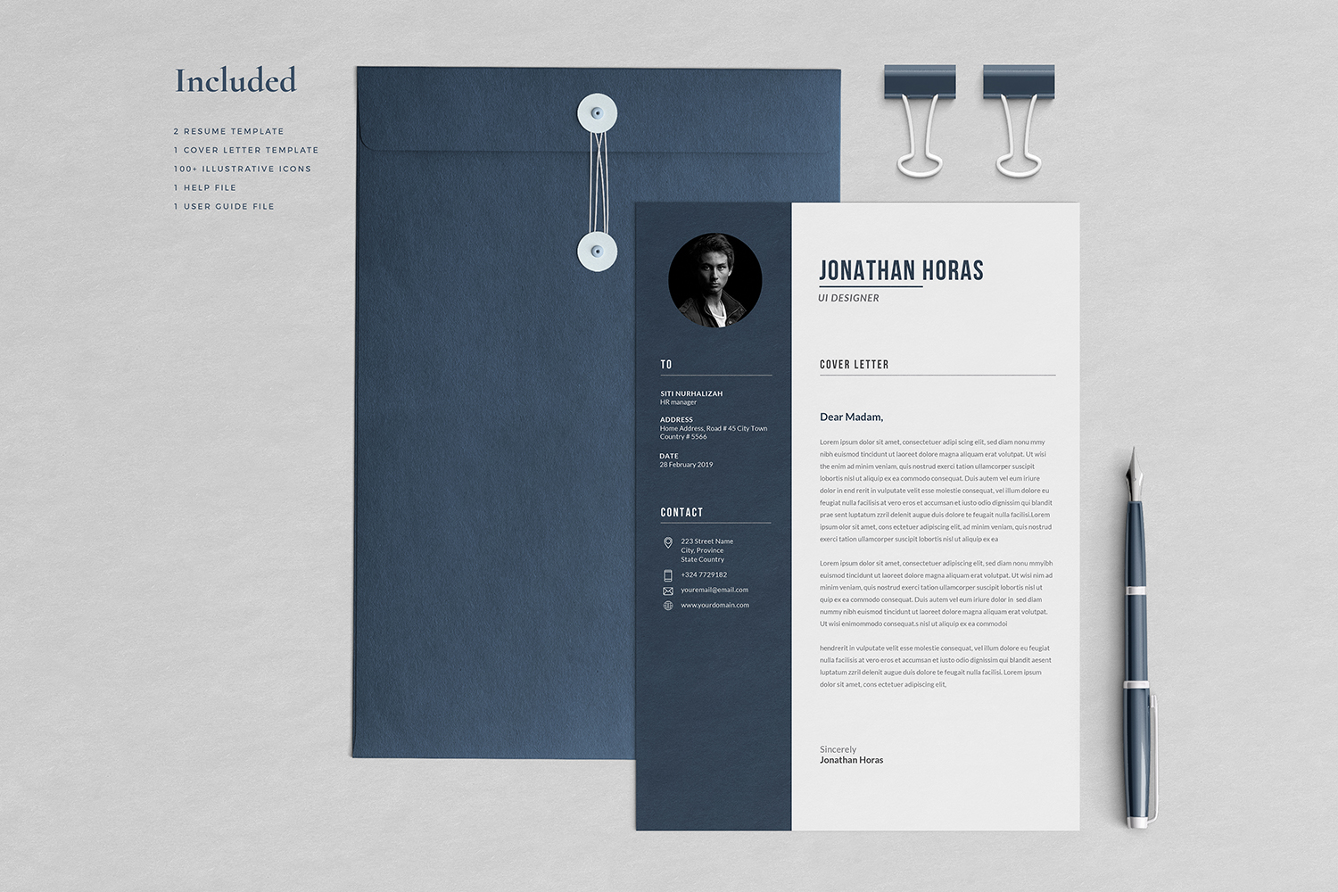 Jonathan Resume with Cover Letter Professional Template example image 3