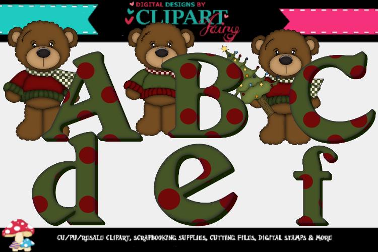 Christmas Boy Bear Alpha example image 1
