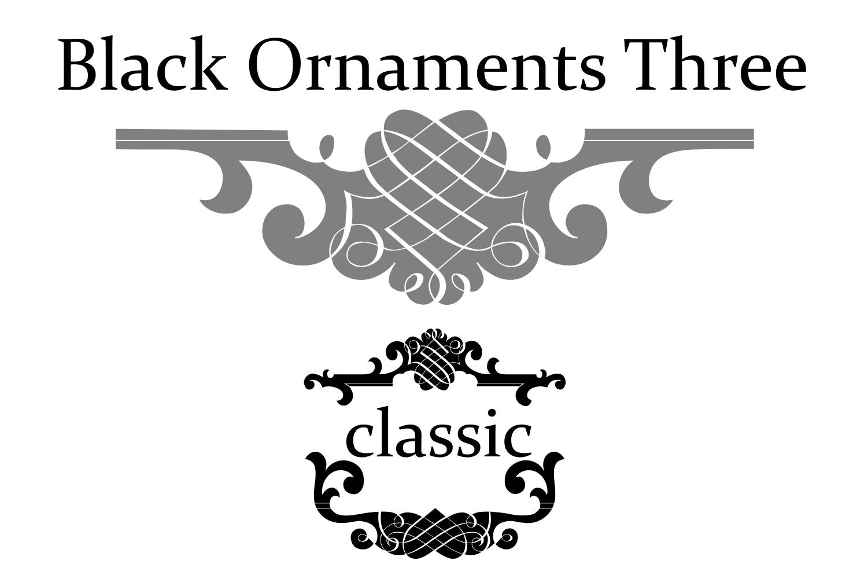 Black Ornaments Three example image 3