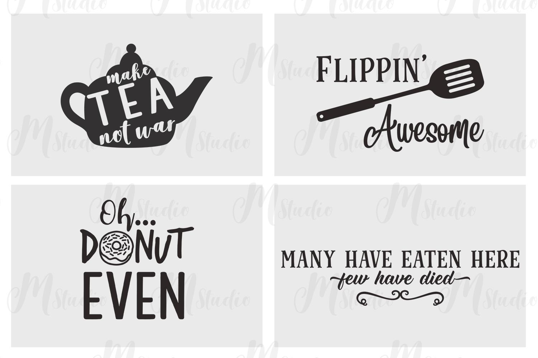Kitchen Quotes svg bundle - 2 example image 5