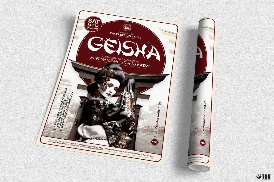 Geisha Night Flyer Template V5 example image 3