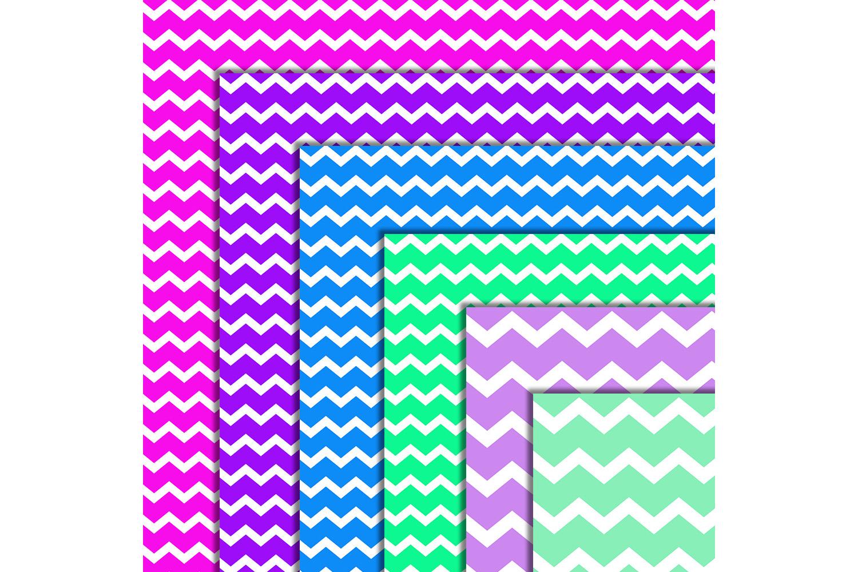 Chevron Digital Paper, Zigzag Digital Paper, Basic, SALE example image 3