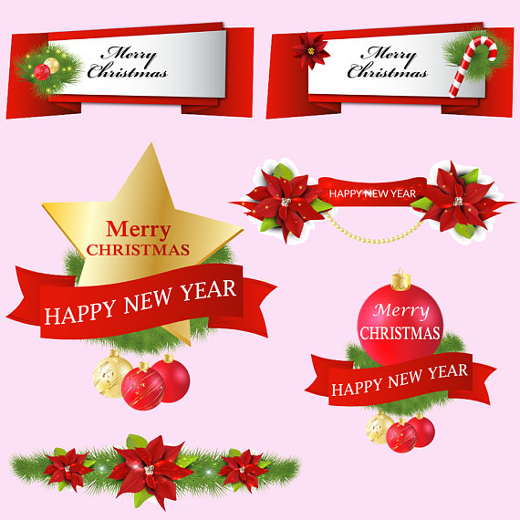 Christmas Banners Clipart example image 2