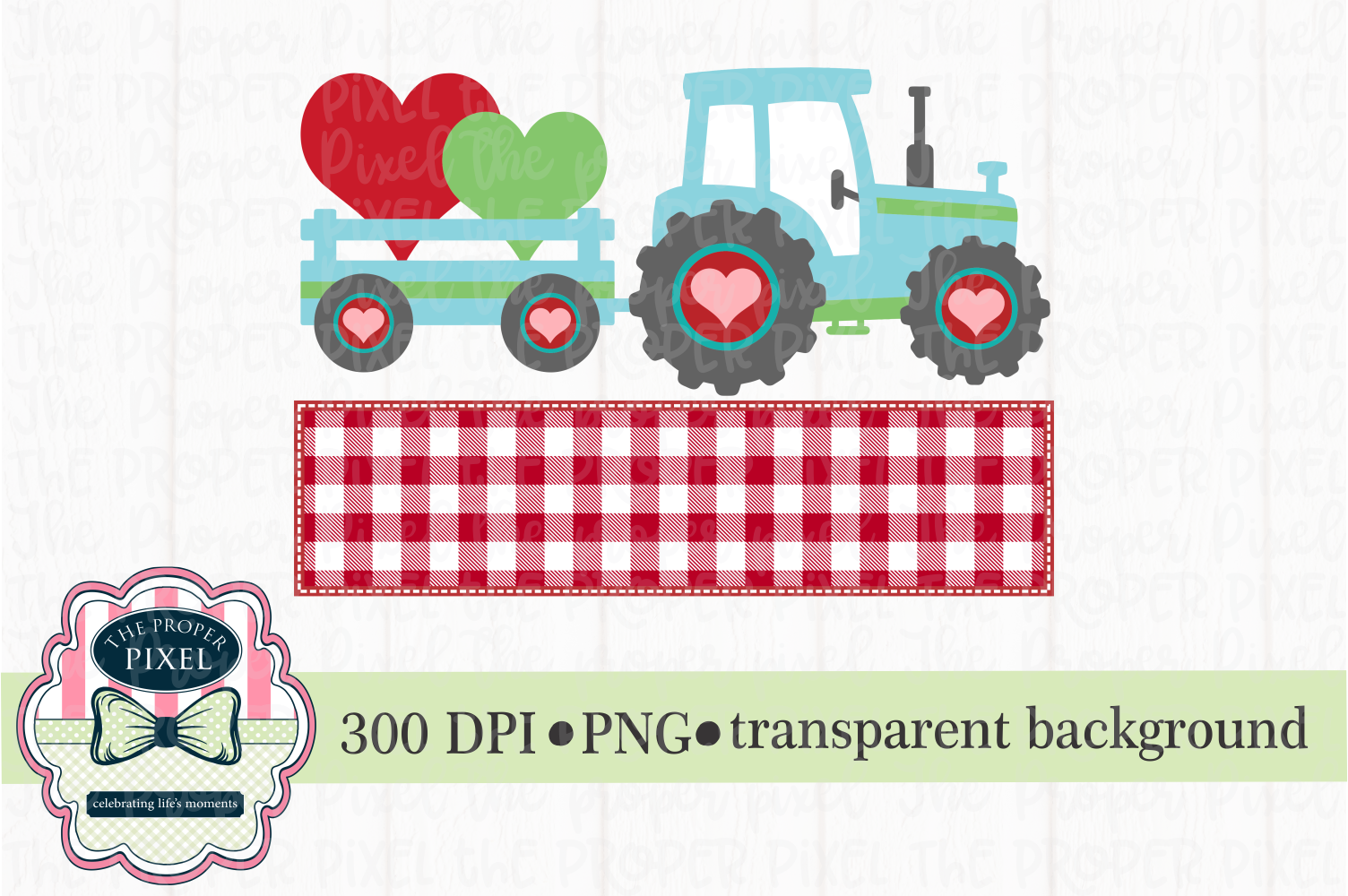 Tractor Valentine Design for boys, PNG sublimation download example image 1