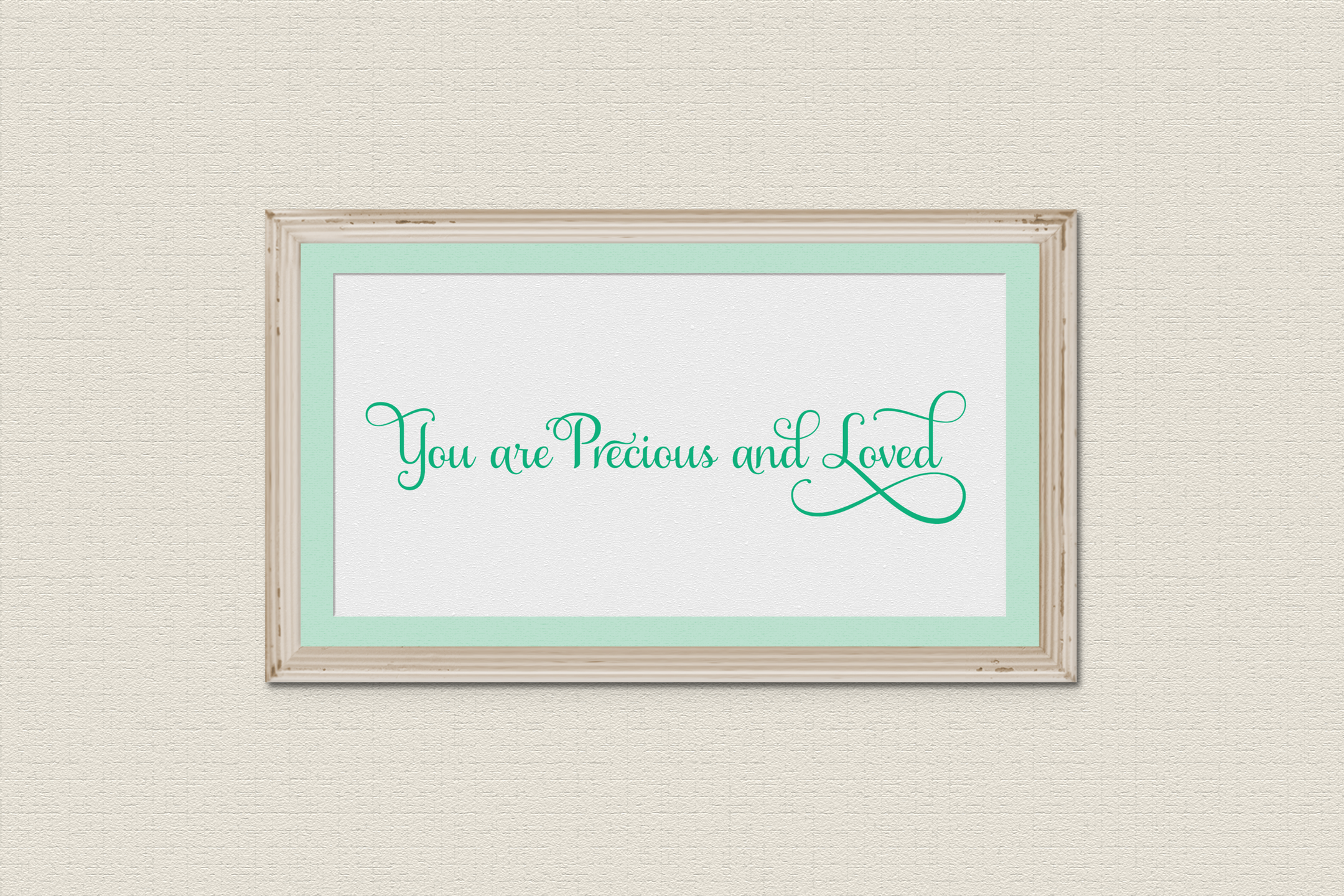 You are Precious and Loved SVG Cut or Print Files example image 3