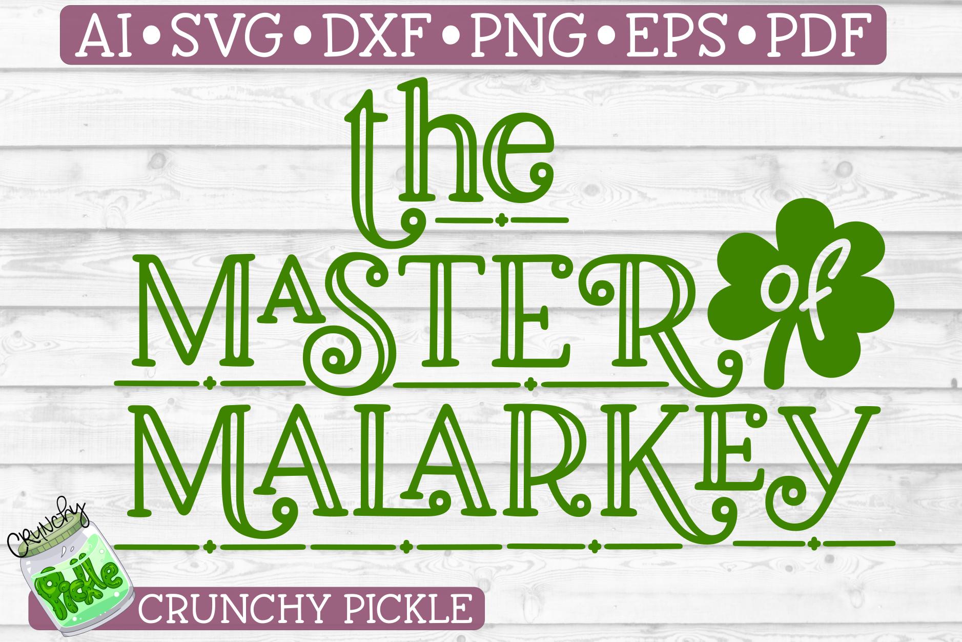 Master of Malarkey St. Patrick's Day SVG File example image 2