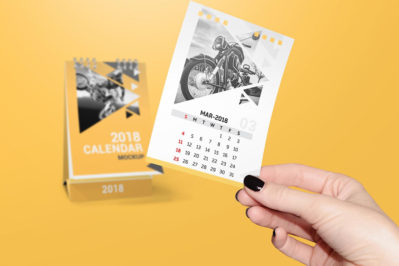 a6 Desk Calendar Mockups example image 3