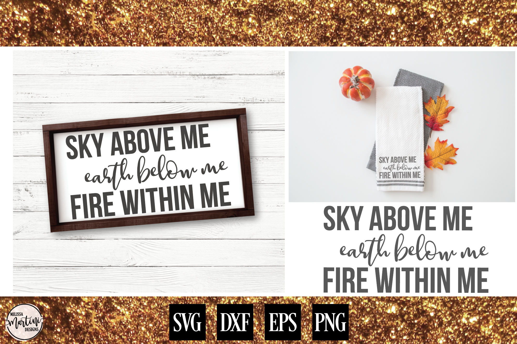 Sky Above Me, Earth Below Me, Fire Within Me example image 1
