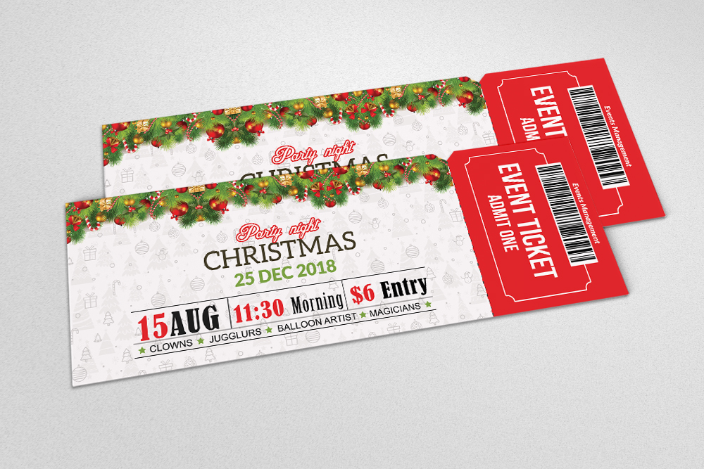 Christmas Party Event Ticket example image 2