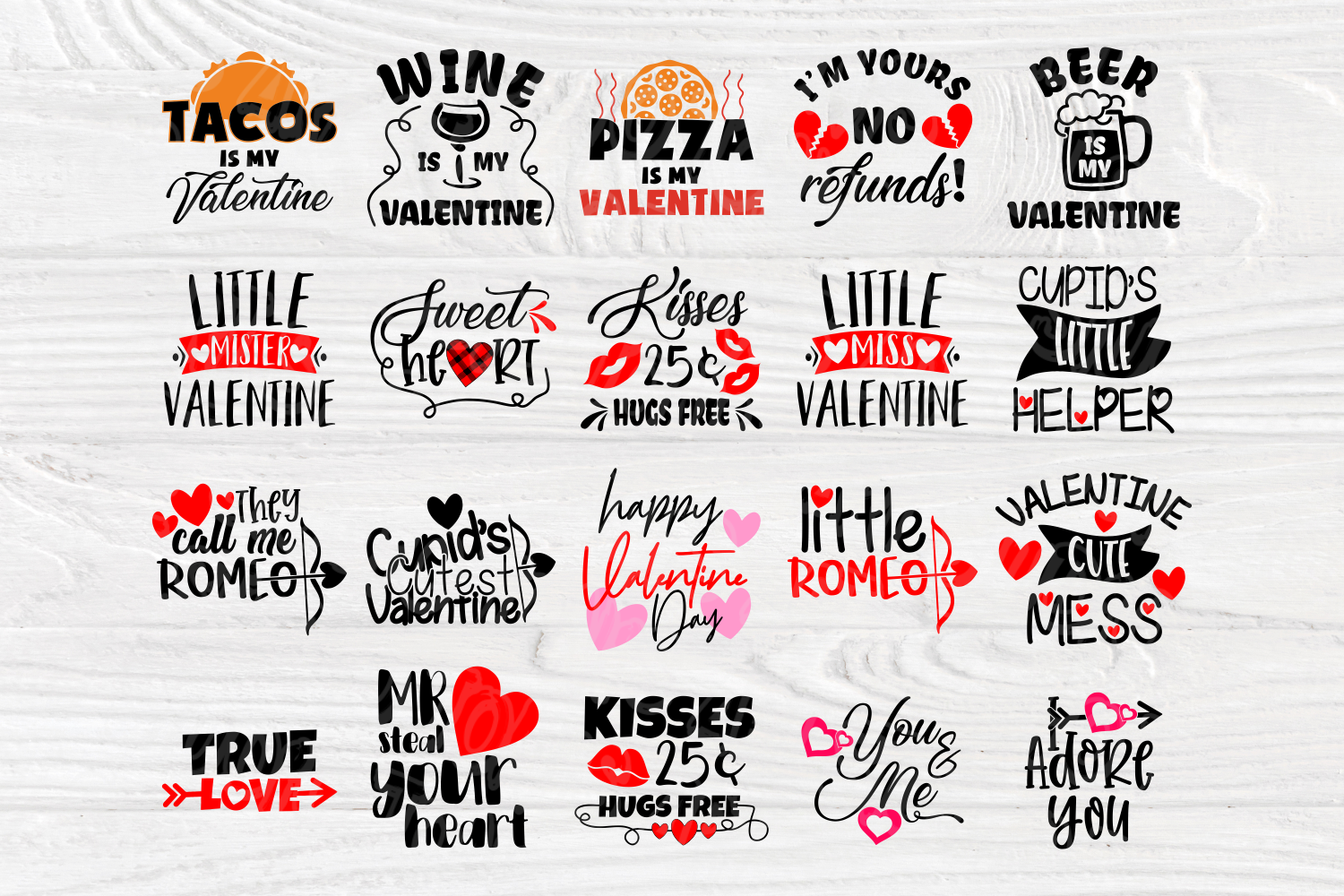 Valentine's Bundle SVG | Cut Files for Crafters | Kids SVG example image 2