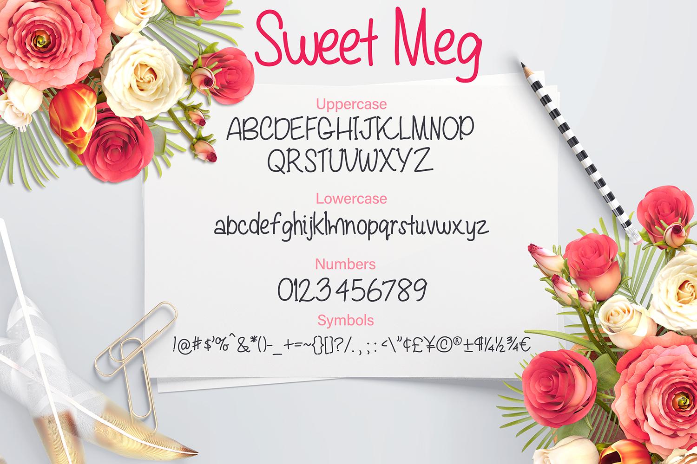 Sweet Meg - a Handwritten font example image 2