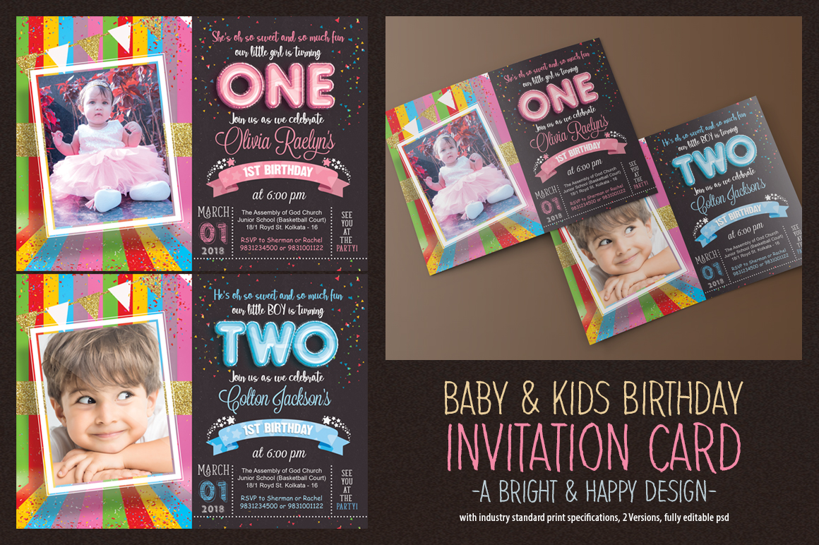 Kids Birthday Invitation example image 1